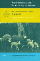 Woordenboek van de Vlaamse Dialecten. Deel 1 - Aflevering 12: Kleinvee