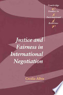 Ebook Justice and Fairness in International Negotiation Epub Cecilia Albin Apps Read Mobile