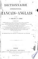 Dictionnaire international fran  ais anglais  par H  Hamilton et E  Legros