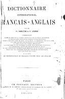 Book Dictionnaire international français-anglais, par H. Hamilton et E. Legros
