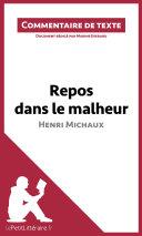 illustration Repos dans le malheur d'Henri Michaux