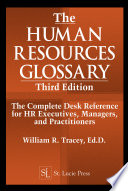 The Human Resources Glossary Third Edition