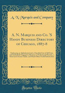 A N Marquis And Co S Handy Business Directory Of Chicago 1887 8