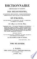 Dictionnaire chronologique et raisonné des découvertes