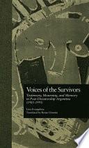 Voices of the Survivors Book PDF