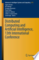 Distributed Computing and Artificial Intelligence  13th International Conference