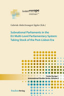 Subnational Parliaments in the EU Multi Level Parliamentary System
