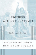 Prophecy without Contempt Book