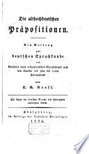 Die althochdeutschen Präpositionen