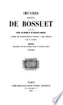 Oeuvres compl  tes de Bossuet