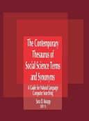 The Contemporary Thesaurus of Social Science Terms and Synonyms And Related Terms For More