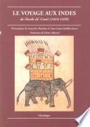 Le voyage aux Indes de Nicol   de Conti  1414 1439