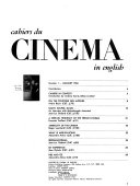 Cahiers Du Cinema in English