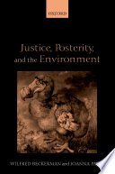 Justice  Posterity  and the Environment