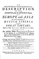 Russia  Siberia  and Great Tartary