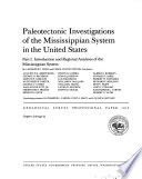 Paleotectonic investigations of the Mississippian System in the United States