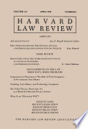 Harvard Law Review: Volume 131, Number 6 - April 2018