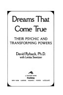 Dreams that Come True Book PDF