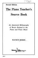 The piano teacher s source book