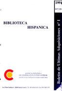 Boletín de últimas adquisiciones