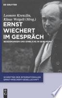 Ernst Wiechert im Gespräch