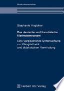 Das deutsche und franz  sische Klarinettensystem