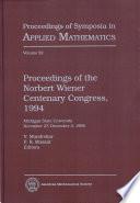 Proceedings of the Norbert Wiener Centenary Congress, 1994