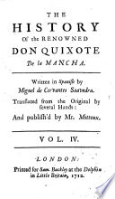 The History Of The Renown D Don Quixote De La Mancha Translated From The Original By Several Hands And Publish D By Peter Motteux Adorn D With Sculptures