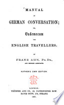 Manual of German conversation... for English travellers