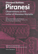 Observations on the Letter of Monsieur Mariette Book