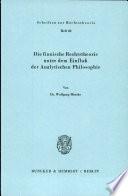 Die finnische Rechtstheorie under dem Einfluss der analytischen Philosophie