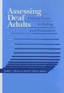 Assessing Deaf Adults