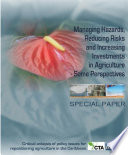 Managing Hazards  Reducing Risks and Increasing Investments in Agriculture