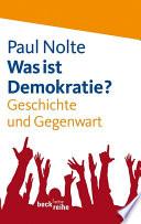 Was ist Demokratie