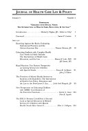 Journal Of Health Care Law Policy