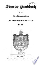Staats-Handbuch für das Grossherzogthum Sachsen-Weimar-Eisenach 1855