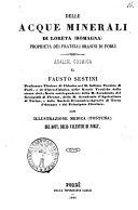 Delle acque minerali di Loreta  Romagna  propriet   dei fratelli Brasini di Forli analisi chimica