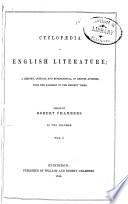 Cyclopedia of English Literature
