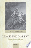 Mock Epic Poetry From Pope To Heine