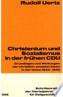 Christentum und Sozialismus in der frühen CDU
