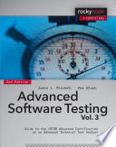 Advanced Software Testing   Vol  3  2nd Edition
