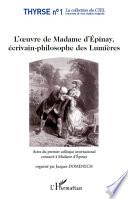 L oeuvre de Madame d Epinay