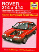 Rover 214 And 414 89 95 Service And Repair Manual