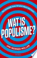 Wat Is Populisme
