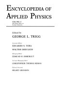 Encyclopedia of Applied Physics  Encyclopedia of Applied Physics Volume 11