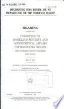 Implementing FEMA Reform Book PDF