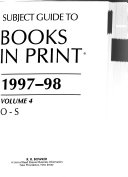 Books in Print 1997 98