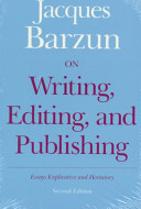 On Writing  Editing  and Publishing
