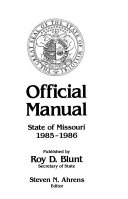 Official Manual  State of Missouri