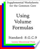 Ccss 8 G C 9 Using Volume Formulas
